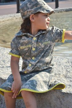 ACU Dress Army dress ACU dress Toddler by CrazyCraftHeaven on Etsy, $40.00