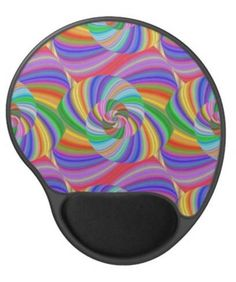 Psychedelic spiral gel mouse pad $14.35 *** Multicolored repeating psychedelic spiral fractal pattern - gel mouse pad