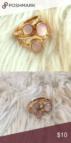 ✨MEGA SALE✨Rose & gold stacking ring set Set of three stacking rings. Wear them multiple ways! Goldtone with rose crystals. New in box size Large (fits a 7-8)✖️NO TRADES✖️ ✔️ REASONABLE OFFERS ACCEPTED✔️ 💲BUNDLE DISCOUNTS💲 Jewelry Rings
