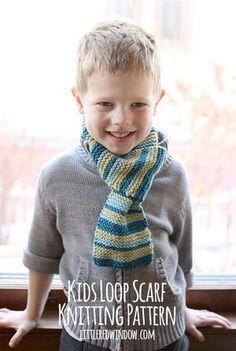 Kids Loop Scarf Knitting Pattern | AllFreeKnitting.com