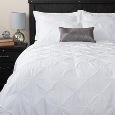 The Blanka Duvet Set is an Urban Barn favourite. With soft pin tuck pleats and delicate stitching, this inviting set will make you want to go to bed. Next Bedroom, Bedroom Sets, Master Bedroom, Duvet Sets, Duvet Cover Sets, French Cottage Decor, Cottage Ideas, Urban Barn, White Duvet Covers