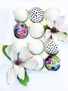 the HUNTED INTERIOR: Floral Easter Eggs