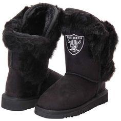 Girls Youth Oakland Raiders Mini Champions Boots