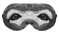 Sleep Sleeping Eye Mask Night Masks Blindfold Travel Kit Sleepmask Eyemask Eyes Shade cover Slumber Eyewear Handmade Handicraft : Sloth by venderstore on Etsy