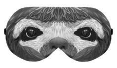 Sleep Sleeping Eye Mask Night Masks Blindfold Travel Kit Sleepmask Eyemask Eyes Shade cover Slumber Eyewear Handmade Handicraft : Sloth by venderstore on Etsy