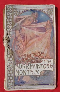 THE BURR MCINTOSH MONTHLY - ORIGINAL Alphonse MUCHA 1907 Art Nouveau RARE!. im putting this up for auction..starting at $0.99 your chance to get a very rare,original mucha relic