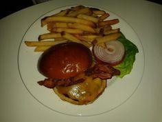 Burger Platter at Sky Cafe in the Revel Casino, Atlantic City, NJ