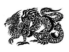 Dragon Tattoo Designs - The Body is a Canvas Celtic Dragon Tattoos, Dragon Tattoos For Men, Dragon Tattoo Designs, Tattoos For Guys, Cool Tattoos, Rainbow Serpent, Skull Art, Tribal Prints, Tribal Tattoos