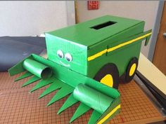Tractor Box | 25+ Valentine Boxes for boys