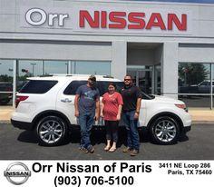 https://flic.kr/p/H7kyEJ | Congratulations Rebecca on your #Ford #Explorer from Nick Jones at Orr Nissan of Paris! | deliverymaxx.com/DealerReviews.aspx?DealerCode=J476