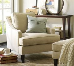 Landon Armchair (but in custom upholstery to coordinate with rest of room)