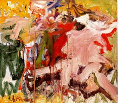 """Two Figures in a Landscape"" by Willem De Kooning"