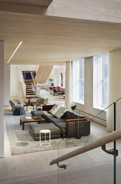 Penthouse loft residence in the SoHo Cast Iron Historic District is washed in natural light, designed by Gabellini Sheppard Associates - CAANdesign   Architecture and home design blog