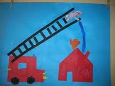 Twee vouwwerkjes zorgen voor een echt verhaal op dit papier! De brandweer rukt in ieder geval uit! People Who Help Us, Preschool Lessons, Fire Engine, Paper Gifts, Firefighter, Geometry, Origami, Kindergarten, Crafts For Kids