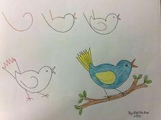 #uccellinogialloeazzurro