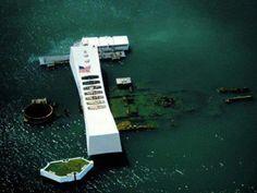 USS Arizona Memorial in Pearl Harbor, Hawaii, World War II Valor in the Pacific National Monument