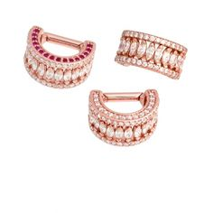 BVLA Septum  LILY #36-0865 Rose gold cuff with nearly 100 precious gemstones!  Diamonds everywhere & Rubies make it reversible!