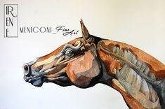 """""""Being Horse: The Chestnut One"""" """"Essere Cavallo: Il cavallo sauro""""  Watercolour, ink 50 x 70 cm"""