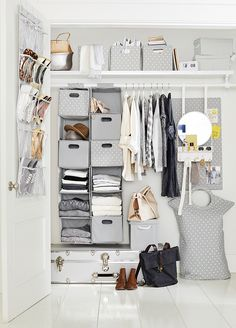 Who says that storage can't double as a stylish accessory? Easy to hang our smart solutions for stowing clothes, shoes and accessories will save you space while keeping your dorm in tip-top, tidy shape. Click to shop!Â