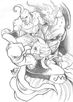 Easy Draw : Majin Boo by MarcelPerez on DeviantArt - Art & Drawing Community : Explore & Discover the best and the most inspiring Art & Drawings ideas & trends from all around the world Dragon Ball Z, Dbz Drawings, Majin Boo, Avatar The Last Airbender Art, Anime Tattoos, Art Sketches, Character Art, Comic Art, Anime Art