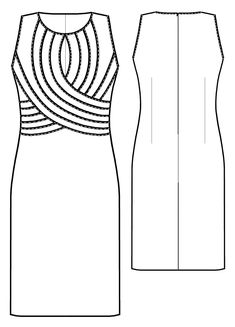 Jurk - Naaipatroon #5433. Made-to-measure sewing pattern from Lekala with free online download. Fitted, Darts, Pleats, Buttoned, Jewel neck, Stand collar, Long sleeves, Set-in sleeves, Cuff sleeves.