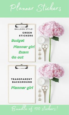 Fresh Green Balloon Stickers for Planner, Script Words Script Words, Script Lettering, Budget Planner, Happy Planner, Holiday Homework, Workout At Work, Erin Condren Life Planner, Shopping Day, Fresh Green
