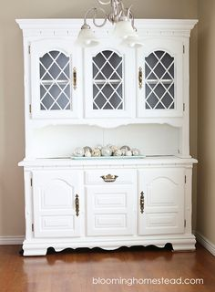 Super refinishing furniture before and after hutch makeover Ideas