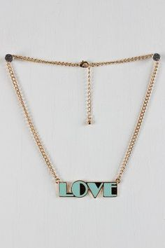 #UrbanOG                  #love                     #Bold #Love #Necklace     Bold Love Necklace                                  http://www.seapai.com/product.aspx?PID=261840