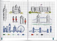 0 point de croix grille et couleurs de fils de veronique enginger londres, cross stitch london