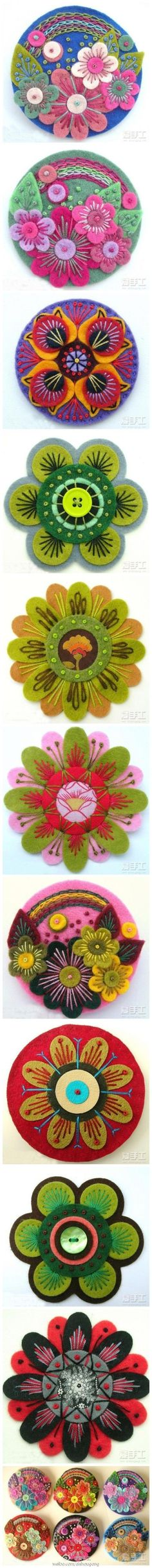 Beautiful felted floral pieces #felted #feltcrafts