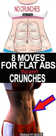 Are you sick of the same AB routine and still not seeing the results you want?? Let's be honest, crunches are repetitive and can be SO boring! Here are 8 moves that AREN'T crunches that can help you achieve STRONG and FLAT ABS!