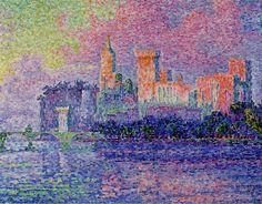 Palais des Papes à Avignon, Paris Musée d'Orsay, Paul Signac Georges Seurat, Oil On Canvas, Canvas Art, Canvas Prints, Big Canvas, Rembrandt, Framed Art Prints, Painting Prints, Dot Painting