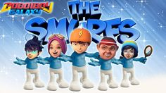 BOBOIBOY GALAXY Transform into The Smurfs 3D Finger Family Nursery Rhyme...