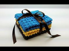 Cobblestone Washcloth Gift Set Crochet Tutorial – Yarnandhooks