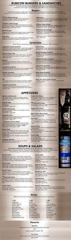 Rubicon menu
