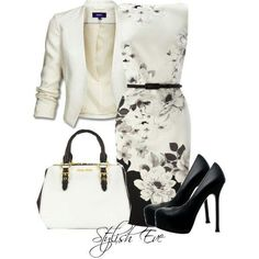 Love the dress, jacket and bag - would change The shoes though.