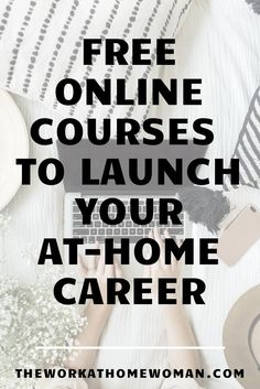 Suddenly have a lot of time on your hands? Check out these FREE online courses to figure out which work-at-home career path is right for you! Online Business Plan, Work From Home Business, Work From Home Tips, Business Tips, Business Marketing, Cash From Home, Make Money From Home, Job Career, Career Path