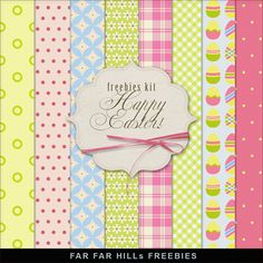 FREE Freebies Kit of Backgrounds - Happy Easter By Far Far Hill