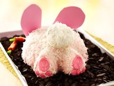 Easy Easter Bunny Butt Cake – Good & Cheap Birthday Party Food Menu Idea - Bored Fast Food