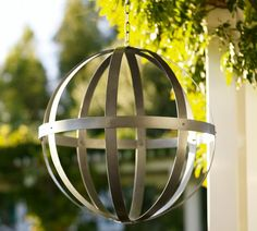 Metal Spheres at Pottery Barn-Great in Backyard in an Urn or haniging