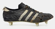 the collection shows a selection of adidas classic football cleats from the last 50 years including franz beckenbauer and david beckham's signature models. Adidas Soccer Shoes, Adidas Boots, Soccer Boots, Adidas Football, Football Outfits, Football Shoes, Football Kits, Football Cleats, Vintage Tattoo Design