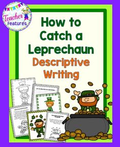 NO PREP St. Patrick's Day: This descriptive writing pack is a sure-fire way to interest students in learning about adjectives and descriptive writing for St. Patrick's Day!