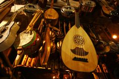 https://flic.kr/p/nJQzQo | Musical Instruments | Instruments at the Grand Bazaar. Istanbul, March 2014