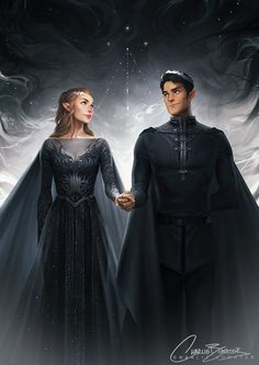 charliebowater: MY BABIES ARE DONE. *dies* Rhys & Feyre, looking all High Lord & Ladylike. This was soooo much fun to work on and I've already ranted and raved about how much I love these two… and everyone else in ACOMAF… and Sarah… and Prints are available over on...