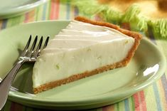 Key Lime Cheesecake Pie--What could be better than a cross between key lime pie and cheesecake?