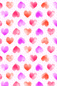 Free printable: Watercolor hearts wrapping paper