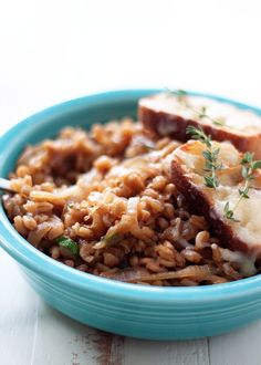 One-Pot French Onion Farro