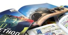 Blurb | Create and self-publish books, scan and they will bind into paperback or even hardback.
