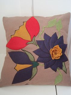 Felt Applique and Embroidered  Purple and by VoleedeMoineaux, $200.00