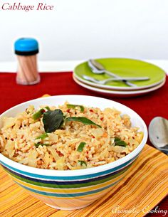 Aromatic Cooking: Cabbage Rice